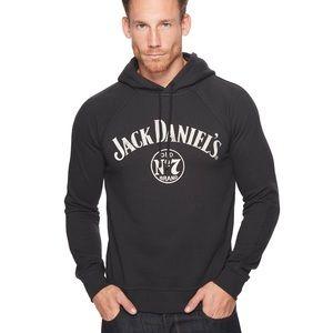 Lucky Brand Jack Daniels Black Men's Hoodie Med